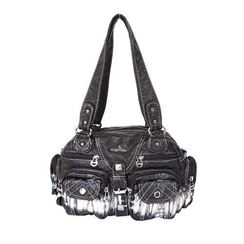 Bandolera Bolso Vintage Resistente Multiusos Cruzado Desgaste Layxi Dama Capacidad Handbag Mujer Impermeable Bolsos Negro Mensajero Multifuncional Gran Al POqOz45