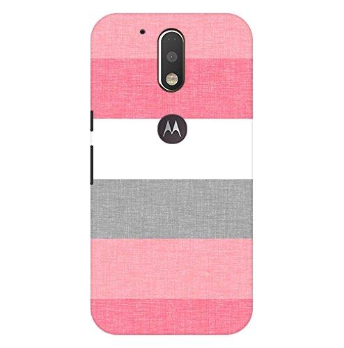 Pattern Creations pcbMMG4P 1364 Stripes Pattern Printed Back Cover for Motorola Moto G4 Plus  Multicolour