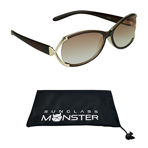 Reading Sun Glasses Tinted with Rhinestones for Women (Brown Glasses Rhinestone Reading)