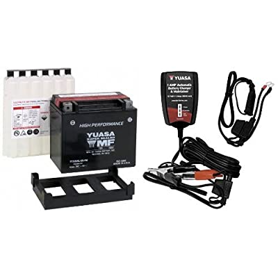 Yuasa YUAM620BH-P YTX20HL-BS-PW Battery and Automatic Charger Bundle