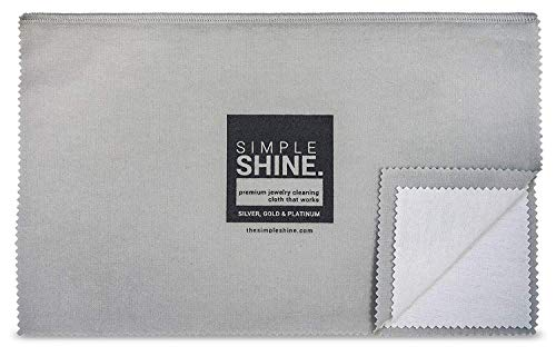 Large Oversized Premium Jewelry Cleaning Cloth | Polishing Cloth Cleaner Gold, Silver, Platinum from Simple Shine.