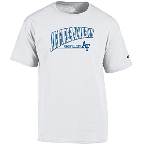 Champion NCAA Air Force Falcons Men's Fadeaway Short Sleeve T-Shirtshort Jersey Tee, White, Small (Screen Jersey Print Classic)