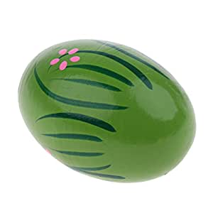 KESOTO Hand Percussion Drum Djembe Sand Maracas Jingle Bell Various Choice For Kids Toy - Green, as described