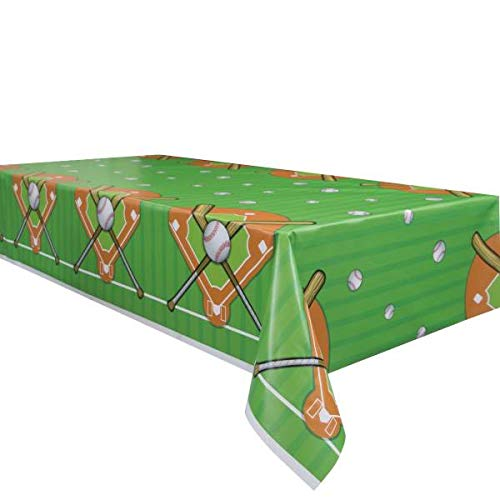 Baseball Theme Party Supplies Set - Plates, Cups, Napkins, Tablecloth Decoration (Serves 16) by Baseball (Image #2)