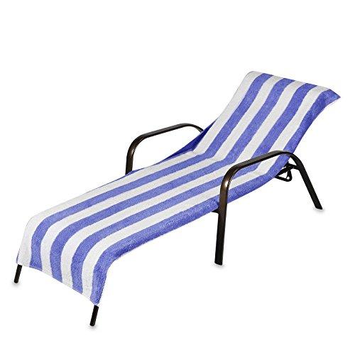 2 pack beach towel style terry stripe pool chaise lounge for Chaise lounge beach towels