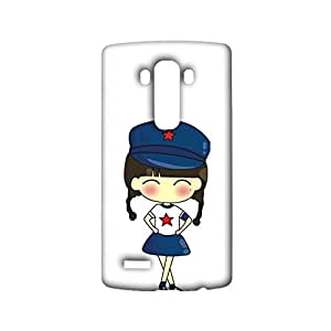 Durable 3d Case for LG G4,Patriotic Little Maki Couple Uniforms Pattern Phone Case Snap on LG G4