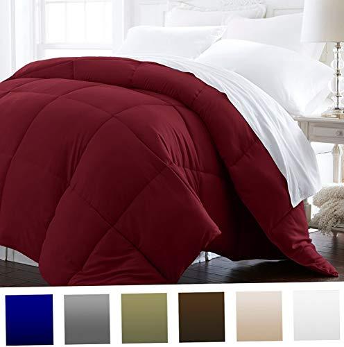 Hemau Premium New Soft 1600 Series - Lightweight - Luxury Goose Down Alternative Comforter - Hotel Quality Comforter and Hypoallergenic - Full/Queen - Burgundy | Style 503192283