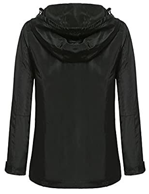 Meaneor Women's Casual Long Sleeve Contrast Color Hooded Coat Softshell Jacket