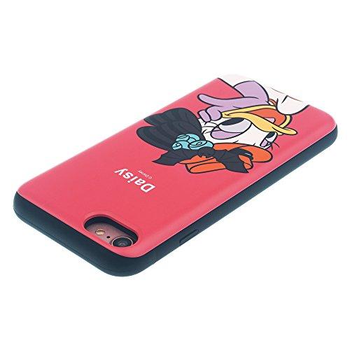 Funda iPhone 7 [Protección híbrida contra caídas] DISNEY Mickey Mouse Linda Doble Capa Hybrid Carcasas [TPU + PC] Parachoques Cubierta para [ Apple iPhone7 ] - Mickey Mouse Smile Festival Daisy Duck (iPhone 8 / iPhone 7)