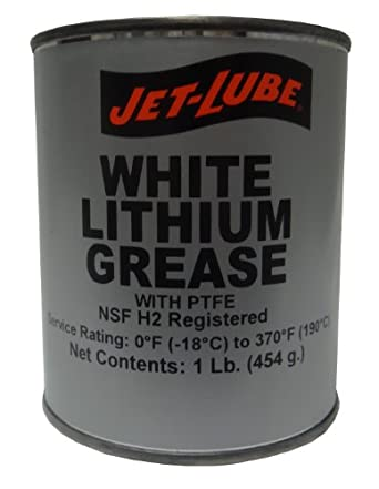 Jet-Lube White Lithium Grease with PTFE, 1 lbs Can