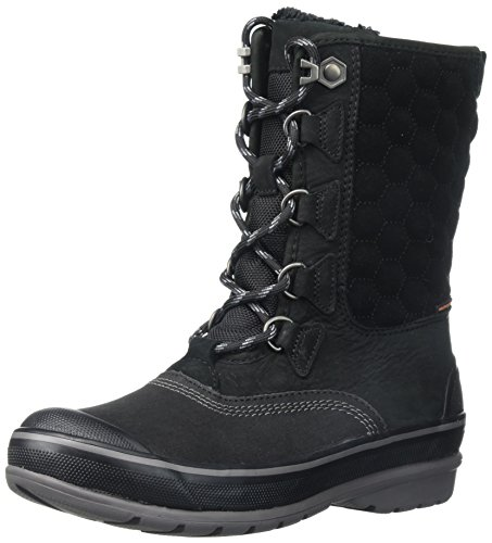 Lace Snow Boots (CLARKS Women's Muckers Lace Snow Boot, Black Nubuck, 6 M US)