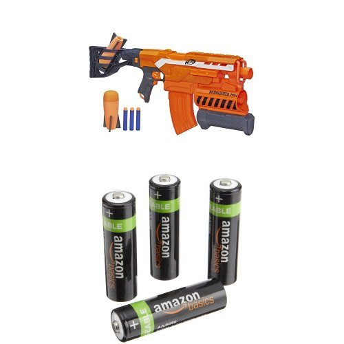 NERF N-Strike Elite Demolisher 2-in-1 Blaster with AmazonBasics AA  Performance Alkaline Batteries: Amazon.co.uk: Toys & Games