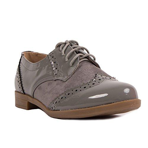 Mujer Cordones Gris de Zapatos 2001 Primtex a17gTT