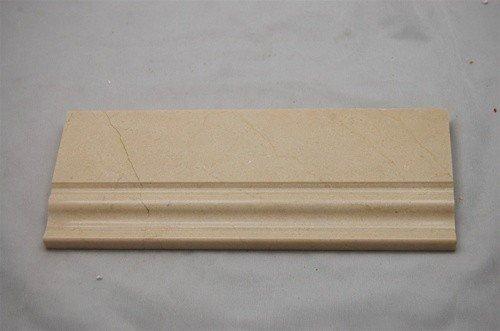 Cream Marfil Marble - Crema Cream Marfil Marble BASEBOARD Molding 5 x 12 - LOT OF 5 PCS
