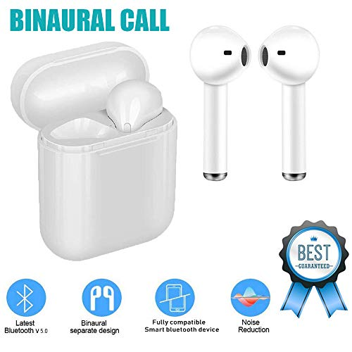 Wireless Earbuds Bluetooth 5.0 Headphones, Noise canceling Headphones, in-Ear Headphones, Support Fast Charging for iPhone Apple Samsung Airpods Sports Headphones