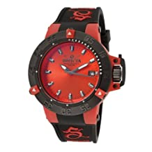 Invicta Women's 10130 Subaqua Noma III Red Dial Black Polyurethane Watch [Watch]