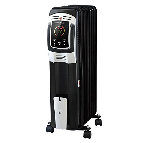 SWM Homeleader 1500W Electric Oil Filled Radiator Heater with LED...