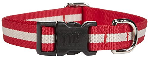 Harry Barker Eton Collar - Red & Tan - Large - 12-20 inch
