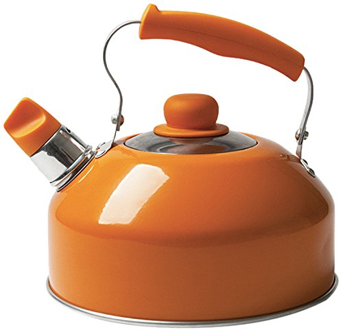 Distintivo Color Naranja Excelsa Pop Cook Tetera con Silbato 2 LT