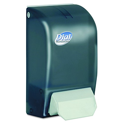 Dial Professional 06055 1 Liter Manual Foaming Dispenser, 1000mL, 5 x 4 1/2 x 9, Smoke by Dial