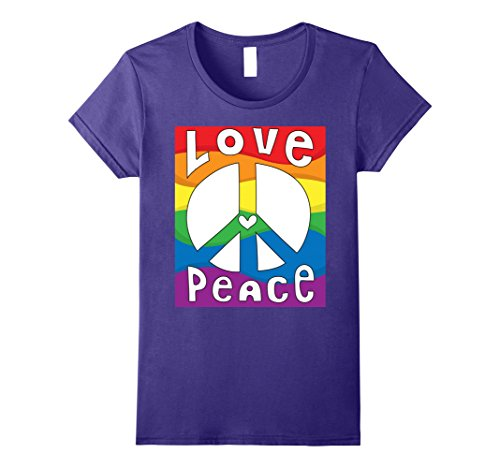 Womens PEACE SIGN LOVE T Shirt 60s 70s Tie Dye Hippie Costume Shirt Medium Purple 60s 70s Cotton