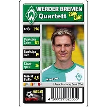 Fussball Quartett Werder Bremen Amazon De Spielzeug