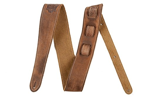 Fender Road Worn Strap - Deluxe Distressed Brown Leather wit