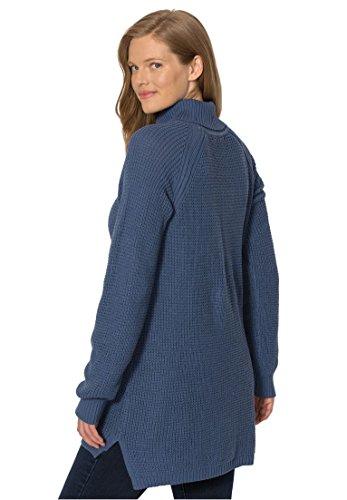 on sale Women's Plus Size Waffle Knit Turtleneck Sweater