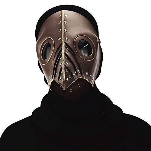 Wetietir Festival Mask Halloween Plague Long Bird Mouth Doctor Dance Mask Cosplay Prop Gift,Brass Costume Mask