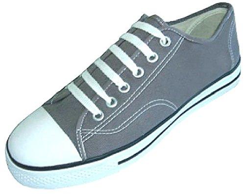 Scarpe 18 Scarpe Da Ginnastica Classiche Donna In Tela Con Stringhe Sneakers Grigie