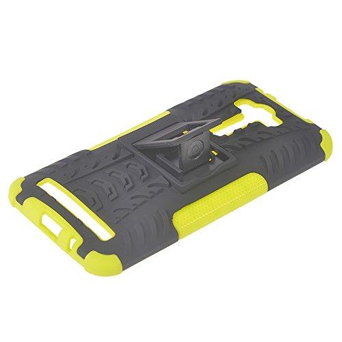 Asus Zenfone 2 Laser ZE550KL (5.5 inches) Funda,COOLKE Duro resistente Choque Heavy Duty Case Hybrid Outdoor Cover case Bumper Para Asus Zenfone 2 Laser ZE550KL (5.5 inches) - azul verde