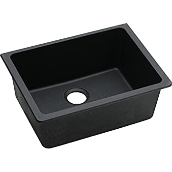 This Item Elkay Quartz Classic Elgu2522bk0 Black Single Bowl Undermount Sink
