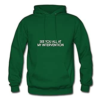 Style Personality My Intervention Green Women 100% Cotton Sweatshirts Fitted Funny X-large