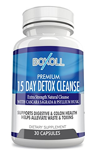15 DAY DETOX AND COLON CLEANSE FOR WEIGHT LOSS, Reduce Belly. Extra Strength Diet Pills with Natural Laxatives, Fiber, Acidophilus, Promotes Healthy Bacteria in Intestines Colon Cleansing Detox