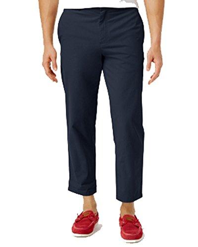 Tommy Hilfiger Golf Shorts - Tommy Hilfiger Men's Rivington Cropped Cotton Pants Navy Blue 36