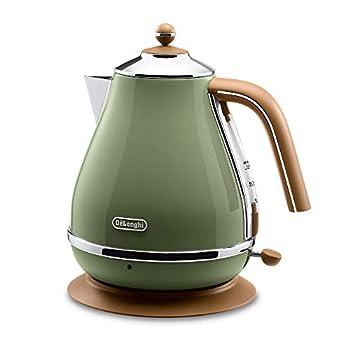 Image of Delonghi Electric kettle (1.0L)「ICONA Vintage Collection」 KBOV1200J-GR (Olive green)【Japan Domestic genuine products】