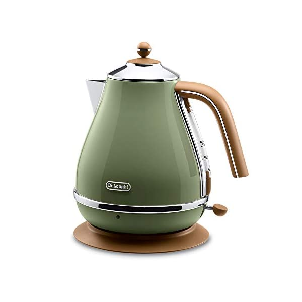 Delonghi Electric kettle (1.0L)「ICONA Vintage Collection」 KBOV1200J-GR (Olive green)【Japan Domestic genuine products】 1