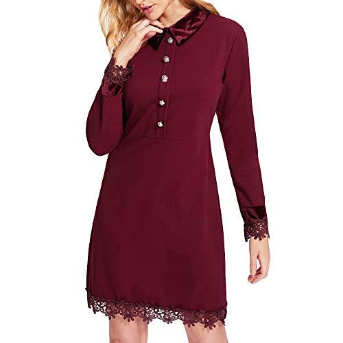 HITRAS Elegant Dress !Fashion Women Lace Patchwork Casual