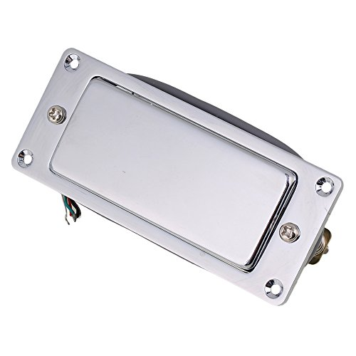 Yibuy 92 x 37mm Sealed Humbucker Pickup Silver for Mini Electric Guitar