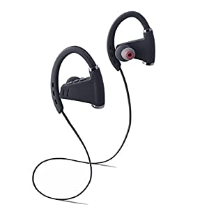 Bluetooth Headphones working out 9 hours Wireless HiFi Earphones IPX5 Waterproof Heavy Bass HD Stereo Earbuds with Mic Noise Cancelling Headsets for iphone, ipad, ipod, phone, music