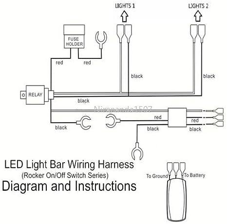 12v 40a 300w Relay Fuse Wiring Harness Led Light Bar Laser Rocker Switch Green Amazon Co Uk Car Motorbike