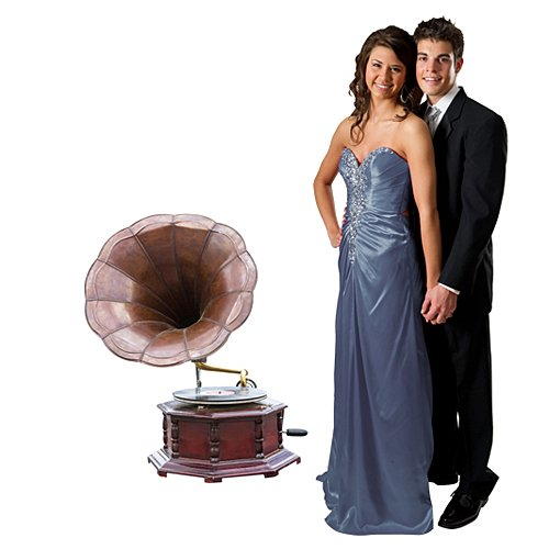 Antique Gramophone Party Standee by Stumps