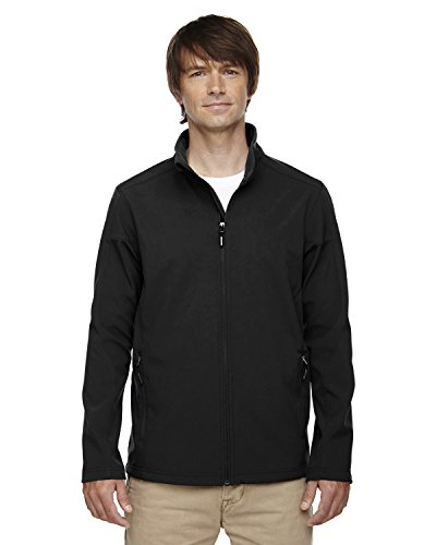 Core 365 Mens Cruise Two-Layer Fleece Bonded Soft Shell Jacket (88184)- Black 703,X-Large (Coast Cruise Jacket)