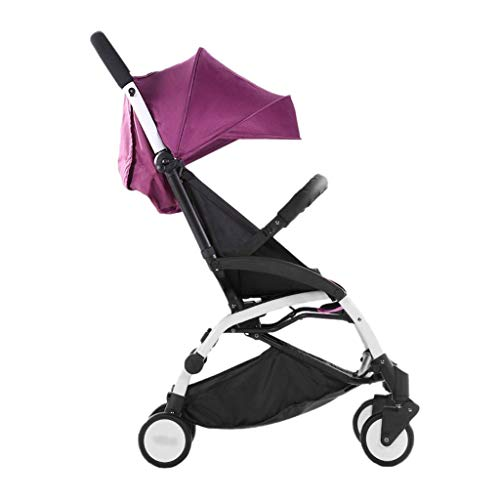 Baby Strollers Ultralight Easy Pocket Pushchairs Prams Portable Strollers Buggies Folding Can Sit Children Kids Travel Pushchair (Color : Fuchsia, Size : 26.7715.7440.55inchs)