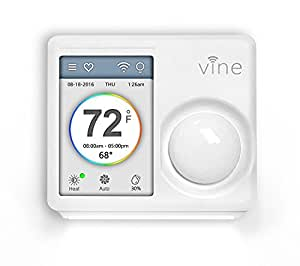 Vine Wi-Fi Programmable Thermostat Smart Thermostat with Touchscreen and Nightlight 2nd Generation