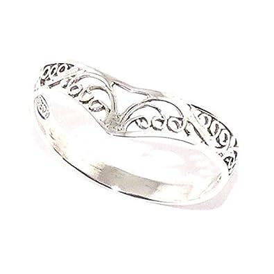 détaillant en ligne b175a 304b7 Ysandel - Bague Elfique couronne elfique, argent 925: Amazon ...