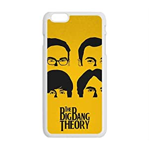 The Big Bang Theory Show principal personajes de Johnny Galecki Jim Parsons Kaley Cuoco Simon Helberg Kunal Nayyar actores iPhone 6Plus funda (blanco)
