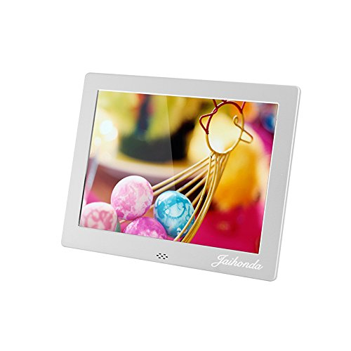- 8'' Metal Digital Photo Frame- Digital Picture Frame with 1024x768 High Resolution Display & Remote Controller Support SD/MMC/MS Card/USB Port