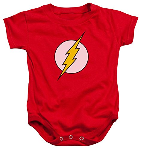 Infant: Flash - Logo Infant Onesie Size 6 Mos (Superheroes Outfit)