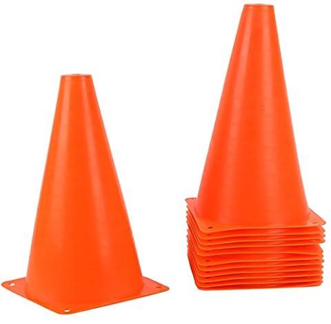 9 Inch Plastic Traffic Cones - Orange Durable Sports Training Cones - 12 Pack - Traffic Cone